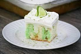 Key Lime Creme Poke Cake