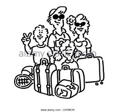 Family Holiday Airport Black And White Stock Photos Images