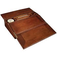 amazon com antique style wood folding travel writing lap desk