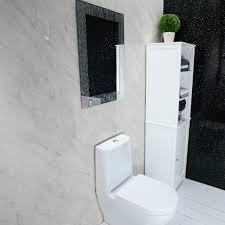 100 Marble Walls Shower Wall Panels Grey PVCBathroom Cladding Wall Panels