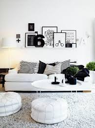 modern white and black living room inspired by geometry