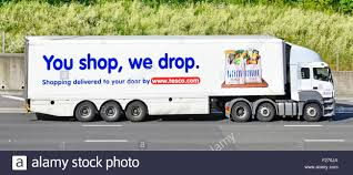 100 Truck And Trailer Supply Side View Of Hgv Supermarket Food Supply Chain Store Grocery