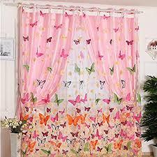 de melumber bunte gardine transparent vorhang panels