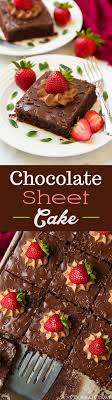 Chocolate Sheet Cake this is the BEST chocolate sheet cake ever Extra chocolatey