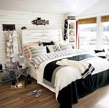 Bedroom Nautical Decor Funny For Kid With Wooden Floor And Black Fish On