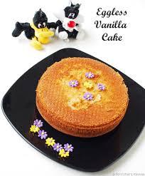 Eggless vanilla cake with chocolate frosting Raks Kitchen