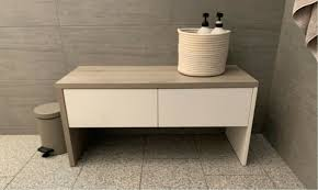 sitzbank weiß grau für bad oder flur wie neu