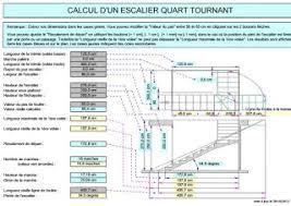 calcul d un escalier quart tournant en feuille excel outils