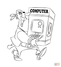 Pirate Carrying A Computer