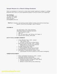 How To Make A Resume For Highschool Student Format Sample College