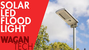 solar led flood light how to install pole mounted wall mounted