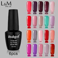 professional nail gel uv l 6 pcs lot ibdgel artist base top coat uv professional nail