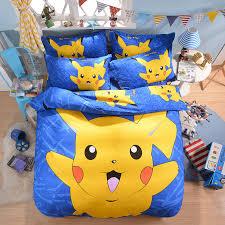 Pokemon Pikachu Printed Bedding Set Home Textile 3D Cute Cartoon