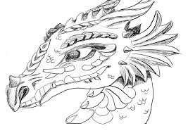 Dragon Coloring Pages For Adults Cool Pictures Within Of Dragons And In