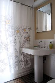Black And White Flower Shower Curtain by Black And White Shower Curtain Bathroom Contemporary With Bathroom