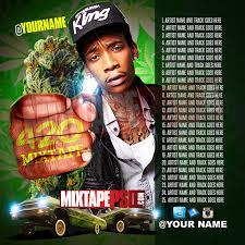 Mixtape Cover Template 420 Tracklist MIXTAPEPSD