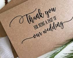 Wedding Party Thank You Card Gifts Favours Bridal