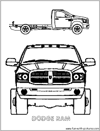 Dodge Truck Ford - Coloring Pages - Print Coloring