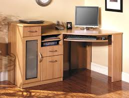 Ameriwood Computer Desk With Shelves by Computer Desks Roundhill Solid Wood Computer Desk Brown Dark