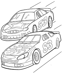 Race Car Coloring Pages Nascar