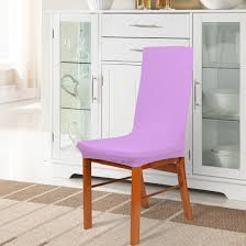Unique Bargains 4 Pcs Light Purple Spandex Stretch Wedding Dining Chair  Cover - Light Purple Unique Bargains Stretchy Spandex Ruffled Skirt Short Ding Room Chair Covers Washable Removable Seats Protector Slipcovers For Wedding Party Purple Colour Lycra Universal Cover Decoration On Sale Banquet Arch Front Open To Buy Rent Table Linen By Linens Spandex Ruffled Shirred Cadburys Purple Spandex Chair Cover 4 Pcs Dark Stretch Cinglenspandex Chair Wedding Covers Ding 160gsm Lavender With Foot Pockets Lacys Rentals Denver Colorado Hi Bar Cloth