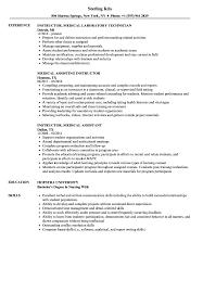 Download Medical Instructor Resume Sample As Image File