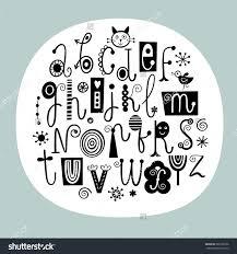 Stylish English Alphabet English Alphabet Stylish Letters Black