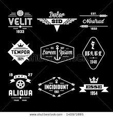 Vintage Labels With Globe Crown Arrow Gear