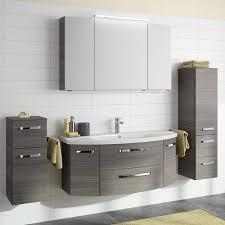 badezimmer waschplatz fes 4010 66 dekor graphit struktur quer nb mit waschbecken unterschrank und spiegel b h t 121 175 48cm
