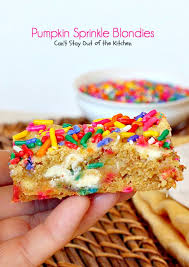 Pumpkin And Cake Mix Dessert by Pumpkin Sprinkle Blondies Can U0027t Stay Out Of The Kitchen