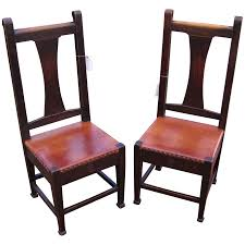 Superb Pair Of Antique Roycroft Chairs W5097 : Antique Mission ... Stickley Chair Used Fniture For Sale 52 Tips Limbert Mission Oak Taboret Table Arts Crafts Roycroft Original Arts And Crafts Mission Rocker Added To Top Ssr Rocker W901 Joenevo Antique Rocking Chair W100 Living Room Page 4 Ontariaeu By 1910s Vintage Original Grove Park Inn Rockers For Chairs The Roycrofters Little Journeys Magazine Pedestal Collection Fniture