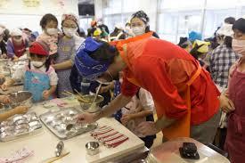 cours de cuisine japonaise brèves nippones 8 un cours de cuisine dans une école primaire