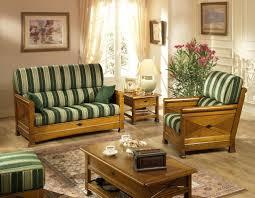 canapé cuir et bois rustique salons rustiques jacques leleu cassis fabriqué en