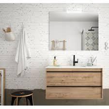 badezimmer badmöbel 100 cm nevada aus eiche ostippo holz mit porzellan waschtisch