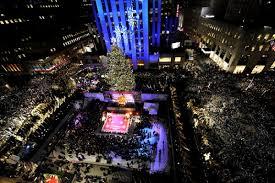 Rockefeller Christmas Tree Lighting 2017 by The Lights Go Up In Rockefeller Center