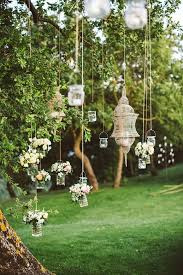 Outdoor Decorations Classy 0c3de10f7e14068443981cbcd69828b0 Hanging Flowers Tree Lanterns Wedding