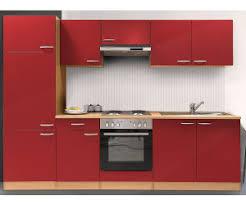 respekta küchenzeile rot 270 cm kb270bre ab 816 54
