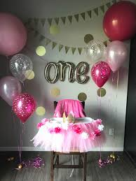 Evergreen stylish party decoration idea for one year old boy or girl