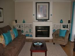 outstanding brown and teal living room design brown and blue