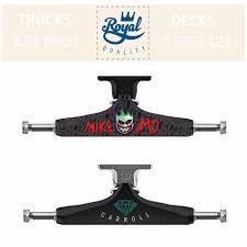 100 Skate Board Trucks ROYAL Mike MoCarroll Board 525 Inch For Double Rocker