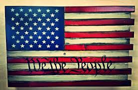 WE THE PEOPLE AMERICAN FLAG HOME DEFENSE CONCEALMENT WALL ART