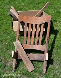 DIY Rocking Chair Upcycle Tutorial - My Creative Days Restoration Of Antique Rocking Chair Youtube Reclaimed Chair How To Tell If Metal Fniture And Decor Is Worth Wood Country Tl Red Cedar Refurbished 1800s Antique Rocking Renee Rose Design Diy Upcycle Tutorial My Creative Days Diy Throne Bangkokfoodietourcom Pretty Painted A Beautiful Baby Gift Charmant Rustic Patio Outdoor Garden Charming Hack Using Denatured Alcohol Strip Stain Black Goes From Dated Stunning