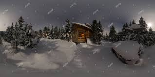 100 Panorama House 360 View Of House Chalet During A Snowfall In The