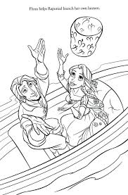 Frozen Coloring Pages Tangled Rapunzel Printable