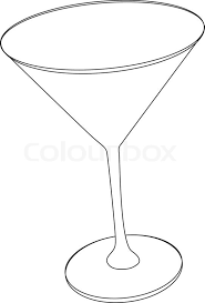 Vector illustration of cocktail glass Stock Vector