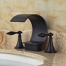 Brushed Bronze Bathtub Faucets by Rozin Oil Rubbed Bronze Bathtub Faucet Dual Handles Basin Mixer