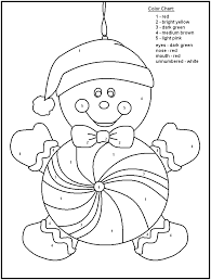Christmas Coloring Pages With Color Numbers Number