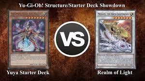 16 yuya starter deck 2016 vs realm of light 2014 yu gi oh