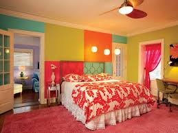 teal und grau schlafzimmer leuchtend orange farbe blau und