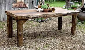 Rustic Outdoor Dining Table Wooden 12